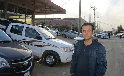 Man on street in Iraq