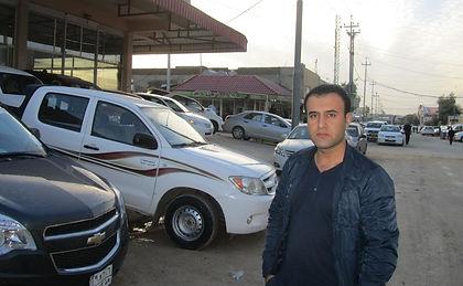 Man on street in Iraq