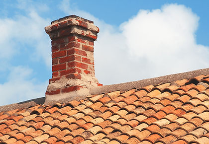 Chimney and roof tiles