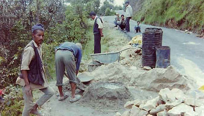 Nepalese road workers