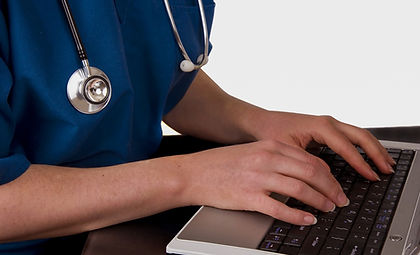 Nurse using a laptop