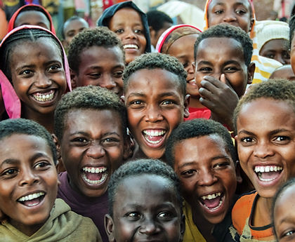 Smiling children in Ethiopia