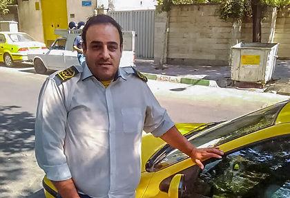 Taxi driver in Iran