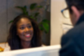 A picture of our receptionist