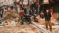 Road works in Kathmandu, Nepal