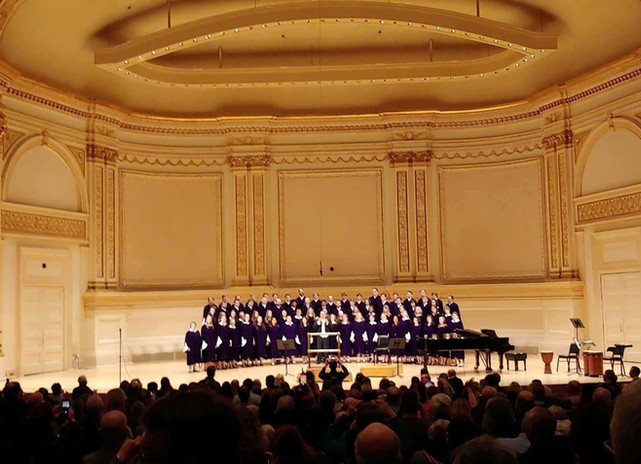 Performing at Carnegie Hall with the St. Olaf Choir, 2020