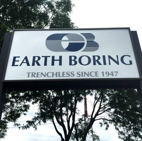 Earth Boring Pylon Sign