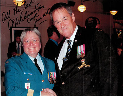 Lieutenant General Whitecross and Fred Smith