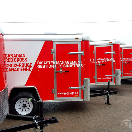 Red Cross Fleet Trailers