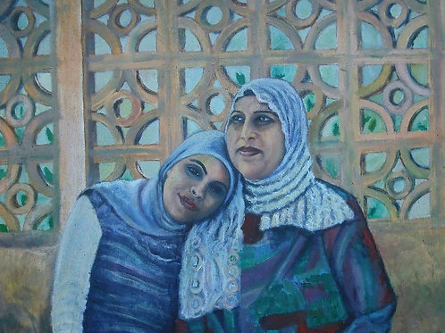 Mother and Daughter oil on canvas