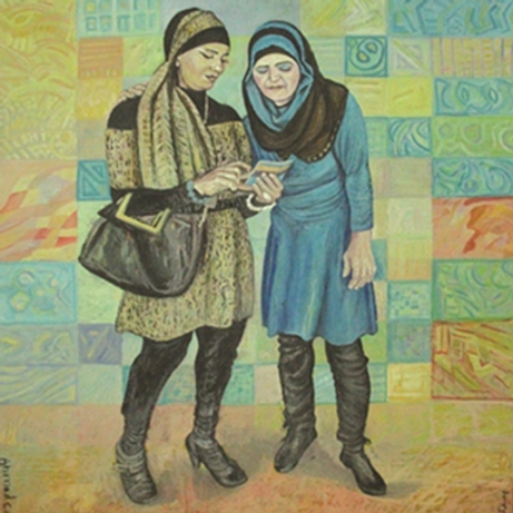 Two Women and a smartphone