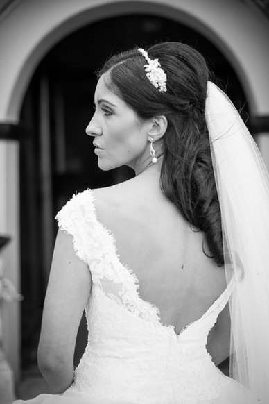 bride in black and white - Galway wedding photographer