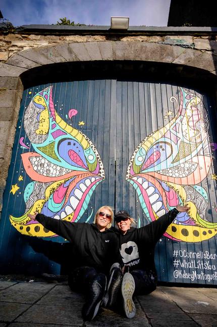 Kelsey Montague Art installation O Connells - Galway PR photographer