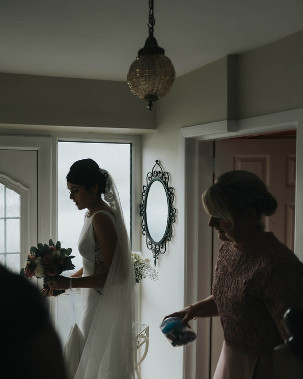 bride silhouette - Galway wedding photograper