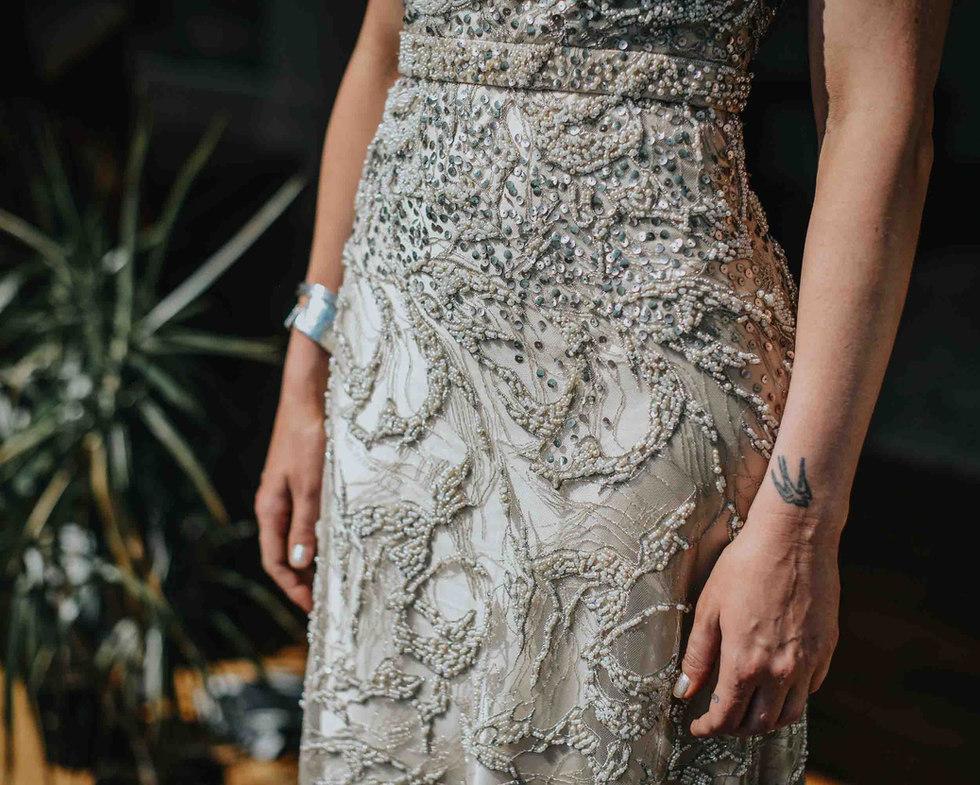 Bespoke wedding dress - Galway wedding photographer