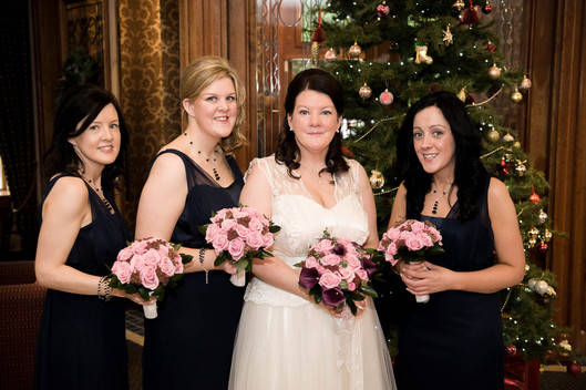 Christmas bridal party - Galway wedding photographer