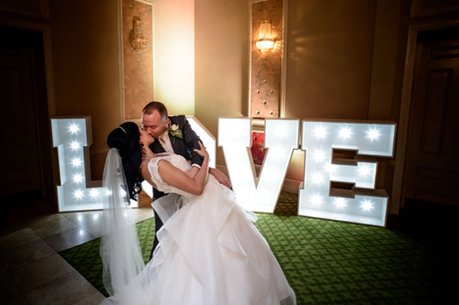 bride and groom kissing love - Galway wedding photograper