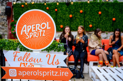 aperol spritx garden launch - Galway PR Photographer