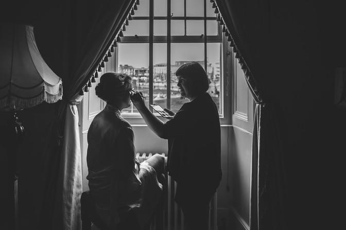 Bridal makeup - Galway wedding photograper
