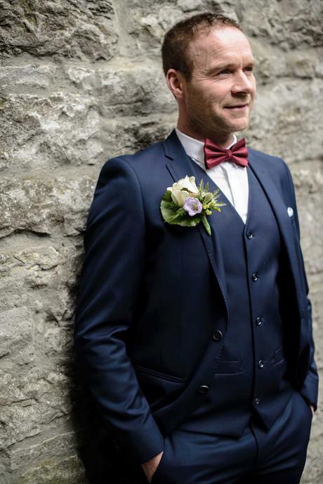 handsome groom before his wedding - Galway wedding photographer