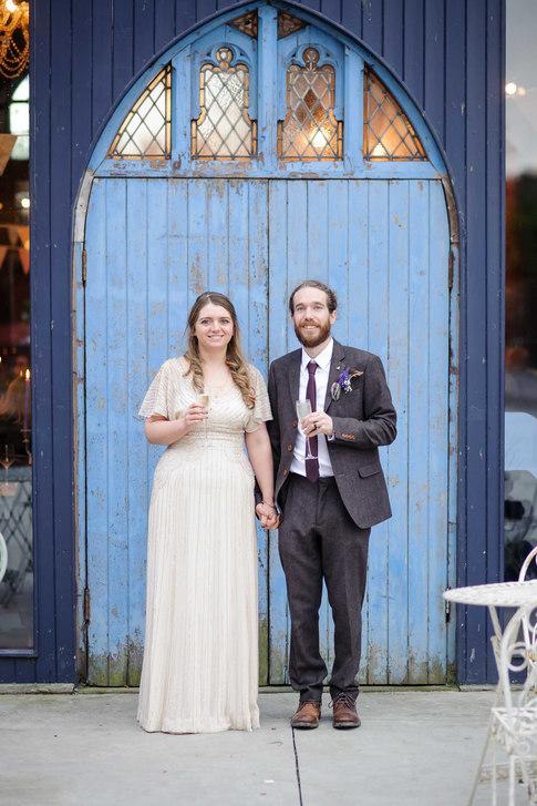 alternative bride and groom - Galway wedding photographer