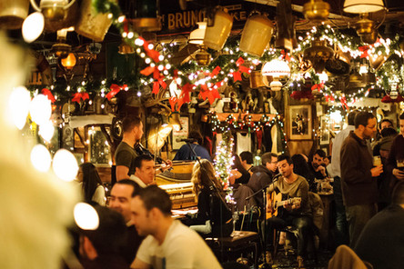 Christmas lights at o connors famous pub salthill - Galway Commercial Photogrpaher