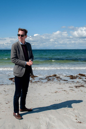 Ryan Tubridy at the beach on Inis Mor in the Aran Islands - Galway PR Photographer