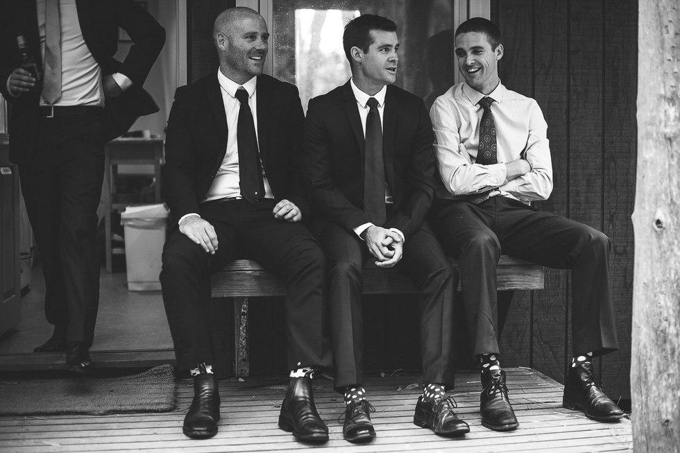 groomsmen talking before the wedding - Galway wedding photographer