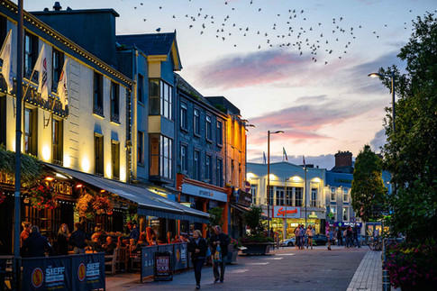Eyre Square at twilight - Galway Commercial Photogrpaher