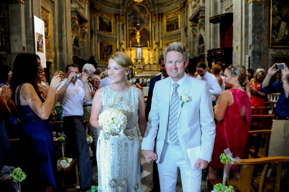 bride and groom in a traditional church in nice france - Galway wedding photographer