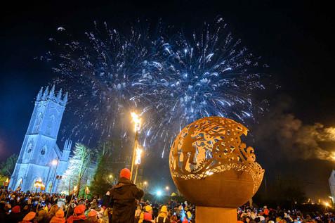 Galway 2020 fire walk tuam - Galway PR Photographer