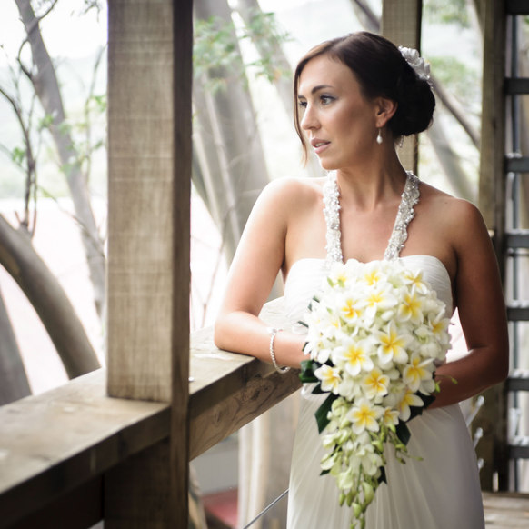 beautiful bride anf flowers in melbourne - Galway wedding photographer