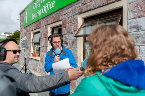 Ryan tubridy broadcasting from the aran islands - Galway PR Photographer