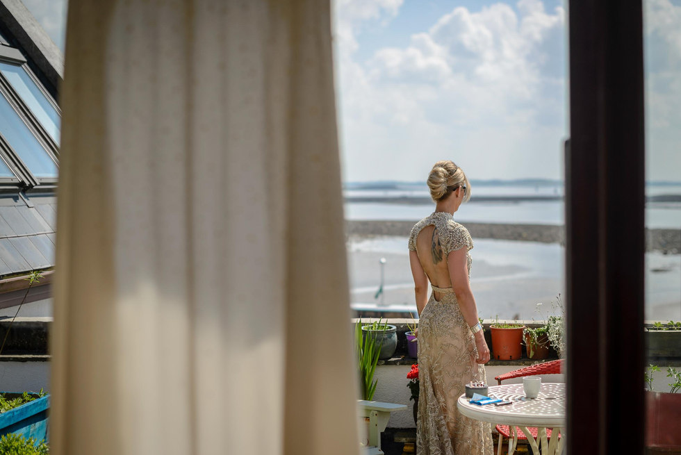 rock and roll bride with tattoo - Galway wedding photographer