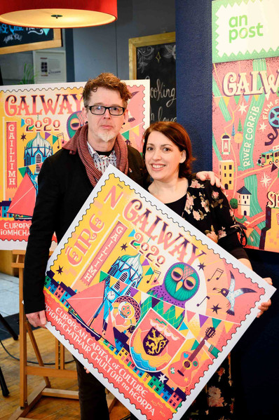 Launch of the an post galway 2020 stamp - Galway PR Photographer