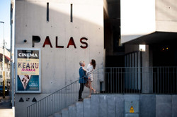 engagement shoot at palas cinema - Galway wedding photographer