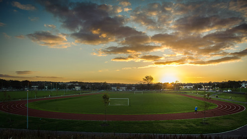 westside playing fields at sunset - Galway Commercial Photogrpaher
