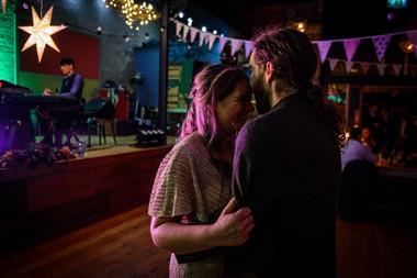 Bride and groom dancing - Galway wedding photograper
