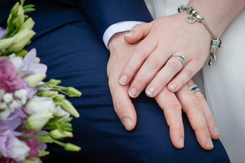Bride and grooms hands - Galway wedding photographer