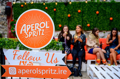 Aperol Spritz garden launch - Galway event photographer