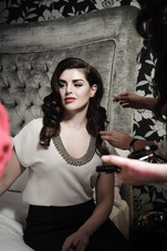 Sile Seoige getting her makeup applied
