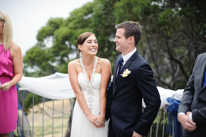 bride smiling at the groom - Galway wedding photograper