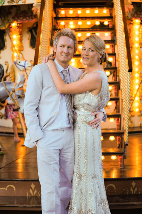 Wedding infront of a ferris wheel in Nice France - Galway wedding photographer