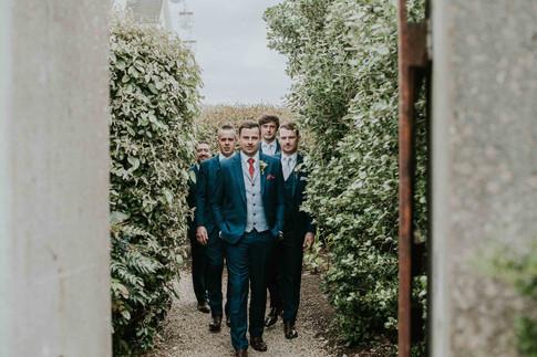 Groom and groomsmen portrait - Galway wedding photograper