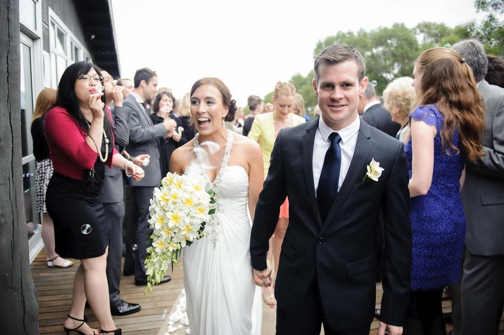 happy bride and groom - Galway wedding photographer