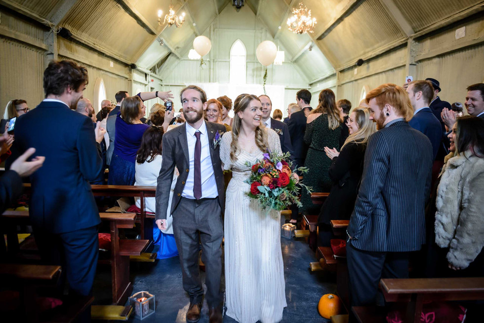 rustic bride and groom - Galway wedding photographer