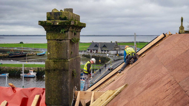 construction high above claddagh - Galway Commercial Photogrpaher