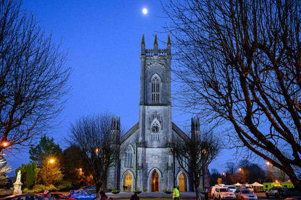Tuam cathedral at twilight - Galway Commercial Photogrpaher