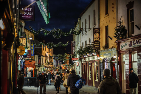 A busy high street in Galway during christmas - Galway Commercial Photogrpaher