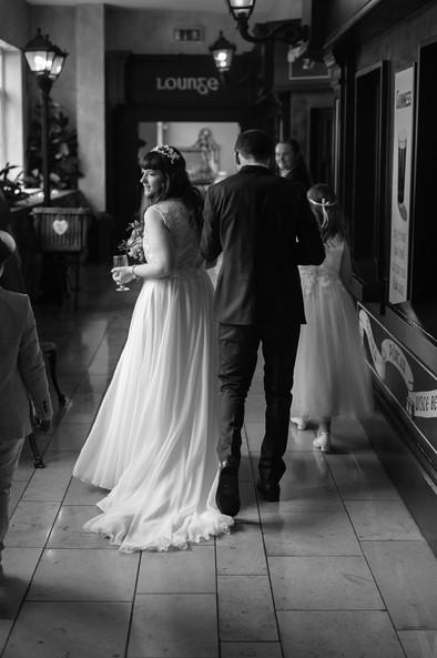 bride just married - Galway wedding photograper